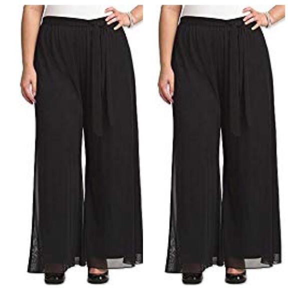 f5631937657 Lane Bryant Black Palazzo Pants Size 18